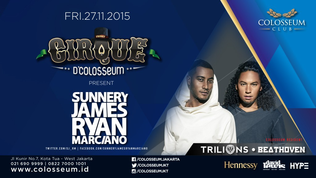 Cirque D'Colosseum: SUNNERY JAMES & RYAN MARCIANO