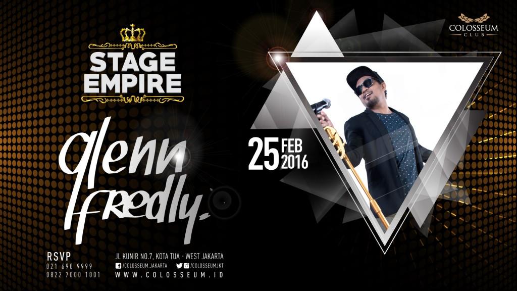 Stage Empire: GLENN FREDLY