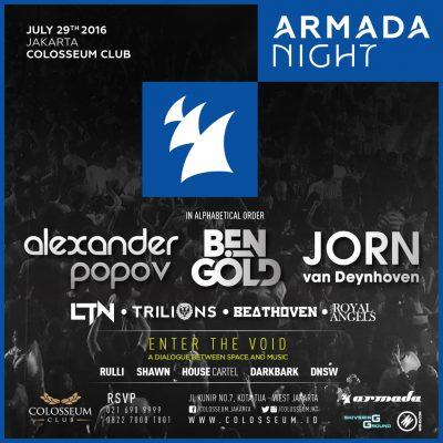 Colosseum Club Jakarta Event - ARMADA NIGHT