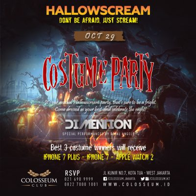 Colosseum Club Jakarta Event - HALLOWSCREAM COSTUME PARTY