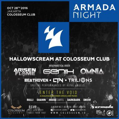 Colosseum Club Jakarta Event - HALLOWSCREAM x ARMADA NIGHT