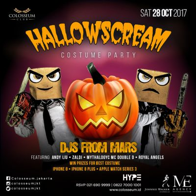 Colosseum Jakarta Event - HALLOWSCREAM COSTUME PARTY
