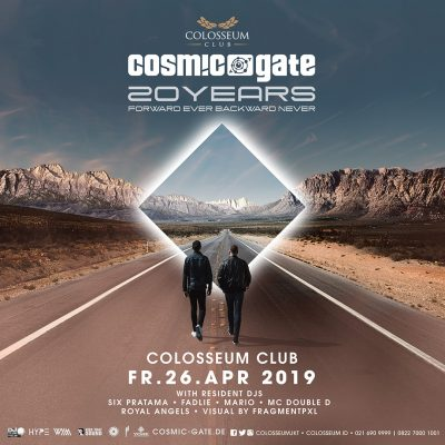 Colosseum Jakarta Event - COSMIC GATE; 20 YEARS