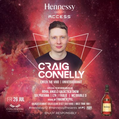 Colosseum Jakarta Event - Hennessy Access; Craig Connelly